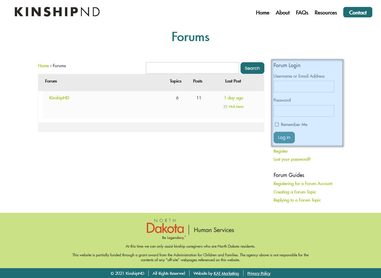 Logging Into the Forum - First Option: Login Form in Sidebar