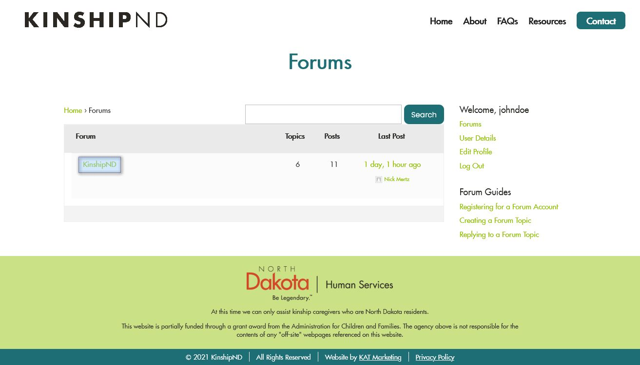 Creating a Forum Topic Step 2: Selecting a Forum